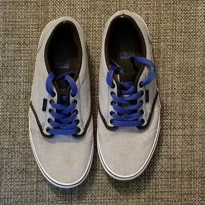 Vans grey sneakers size 8.5